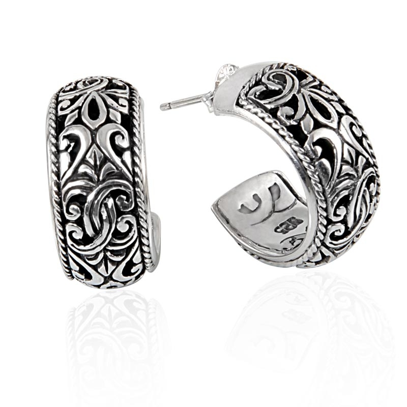 inch eighth products one earring on taxco all sterling hoop earrings silver post collections from sliver