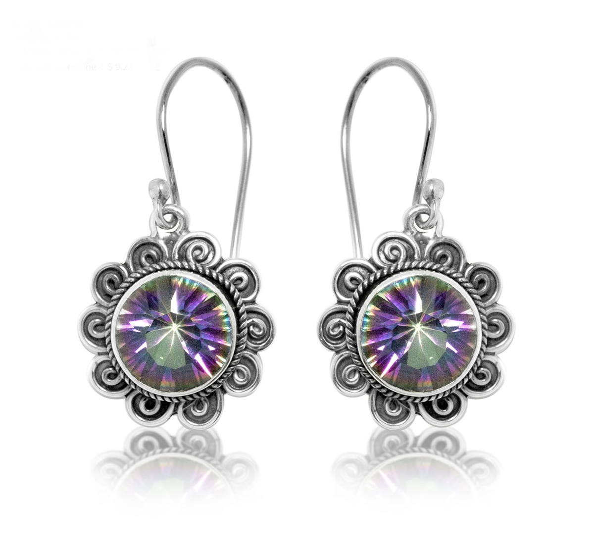 mystic shop duggan topaz julie round designs drop gemstone earrings