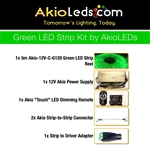 AkioLED Green LED Strip Kit