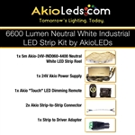 AkioLED Neutral White LED Strip Kit