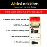 AkioLED Red LED Strip Kit
