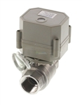 "3/4"" Stainless Steel Motorized Ball Valve - Power off / Closed"