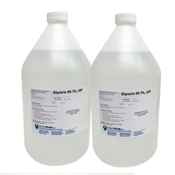 Glycerin USP Kosher (Made in the USA) - 2x1 Gallons