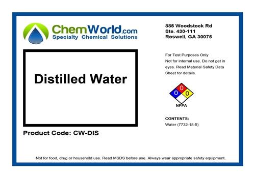 55 Gallons Chemworld Technical Grade Distilled Water