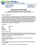 Chemworld 203A-ND  Product Bulletin