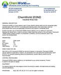 Chemworld 203ND  Product Bulletin