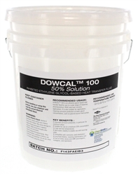 Five gallon containers of DowCal 100 Inhibited Ethylene Glycol