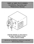 Instruction Manual MEC-O-MATIC 2400T Plus