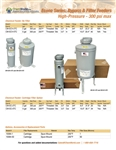 Product Bulletin Econo Series Bypass and Filter Feeders