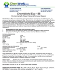 ChemWorld ECO 186 Technical Information