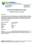 ChemWorld MEMBRANE ULTRA Technical Information