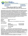 ChemWorld METAL SAFE Technical Information