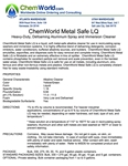 ChemWorld METAL SAFE LQ Technical Information