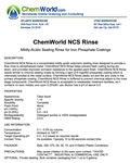 ChemWorld NCS RINSE Technical Information
