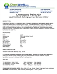 ChemWorld PAINT ALK Technical Information
