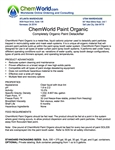 ChemWorld PAINT ORGANIC Technical Information