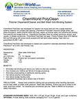 ChemWorld PolyClean Technical Information