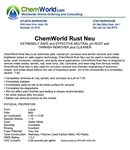 ChemWorld RUST NEU Technical Information