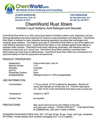 ChemWorld RUST XTREM Technical Information