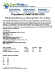 ChemWorld Synthetic Eco Technical Information