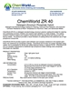 ChemWorld ZR 40 Technical Information