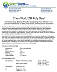 ChemWorld ZR POLY SEAL Technical Information