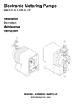 Electronic Metering Pumps Manual