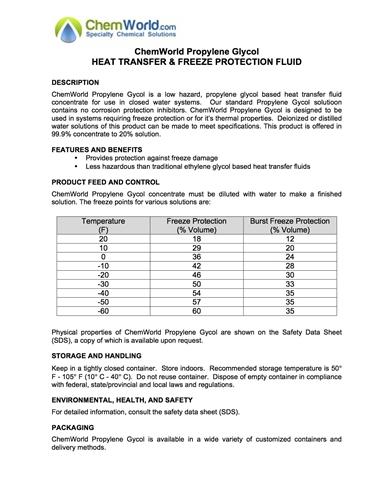 Propylene Glycol USP SDS