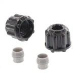 "Stenner 1/4"" Hose Fittings (Nut & 1/4"" Ferrule) - QTY 2"