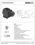 Stenner S Series Spec Sheet