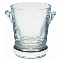 Krosno Crystal Ice Bucket with Hallmarked Sterling Silver Base