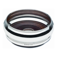 Sterling Silver Bottle Coaster, Barrel Style with Mahogany Base