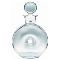 Atlantis Crystal and Sterling Silver Doughnut Spirit Decanter
