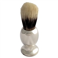 Sterling Silver Shaving Brush with Imitation Badger Bristle