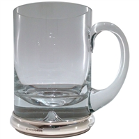 Krosno Glass Beer Tankard with Hallmarked Silver Base