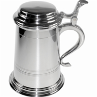 Pewter Balmoral Pint Tankard with Lid