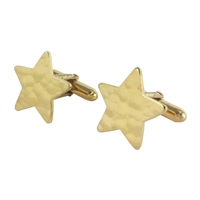 Silver Gilt Gold Star Cufflinks