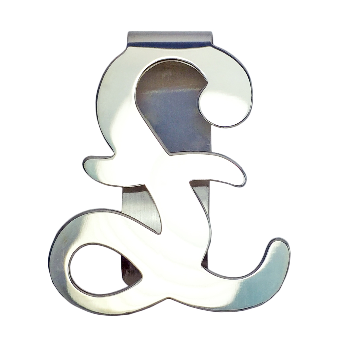 Silver pound sign shaped money clip alternative views biocorpaavc Gallery