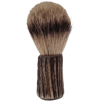 Stag Antler Handled Shaving Brush with Badger Bristle