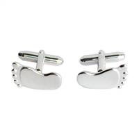 Sterling Silver Pair of Feet Cufflinks