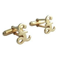 Sterling Silver Gilded British Pound Sign Cufflinks
