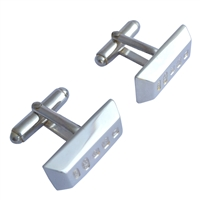 Sterling Silver Ingot Cufflinks with Large Feature Hallmark