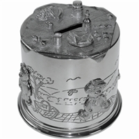 Teddybears Picnic Pewter Money Box
