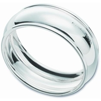 Sterling Silver Barrel Shape Napkin Ring