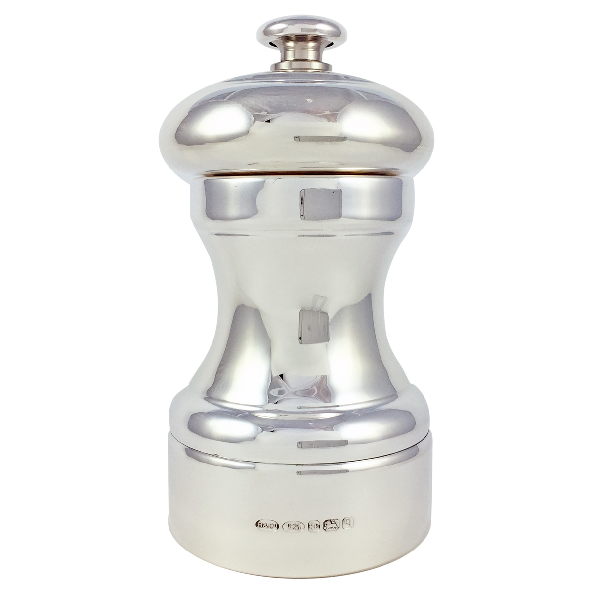 Hallmarked Sterling Silver Salt Amp Pepper Mill With Peugeot