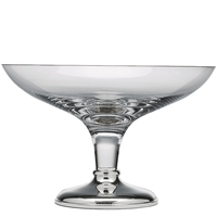 Krosno Crystal and Sterling Silver Fruit Bowl