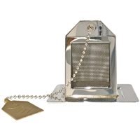 Silver & Gold Plated Tea Bag Tea Infuser and Tray