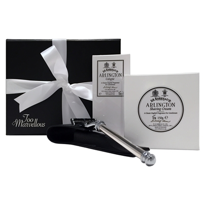 The Arlington Mayfair Shaving Boxed Set, D R Harris and Sterling Silver Razor