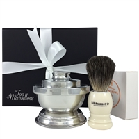The Blackheath Pewter and DR Harris Shaving Gift Set