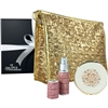 Gold Sparkles Sequin Makeup Bag, Mirror and Atomiser Gift Set